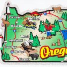 Oregon State Map Die Cut Sticker