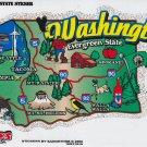 Washington State Map Die Cut Sticker