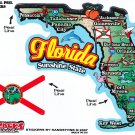 Florida State Map Die Cut Sticker