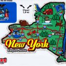 New York State Map Die Cut Sticker