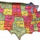 USA Map Acrylic Magnet