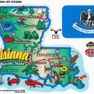 Louisiana State Map Die Cut Sticker