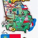 Georgia State Map Die Cut Sticker
