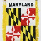 Maryland Window Hanging Flag