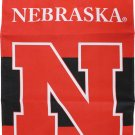 """University of Nebraska (Cornhuskers) - 13""""x18"""" 2-Sided Garden Banner"""