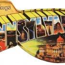 Pennsylvania Acrylic Postcard Magnet
