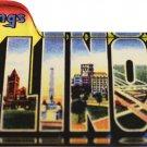 Illinois Acrylic Postcard Magnet