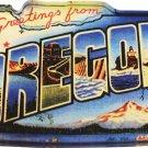 Oregon Acrylic Postcard Magnet