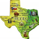 Texas Acrylic State Map Magnet