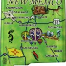 New Mexico Acrylic State Map Magnet
