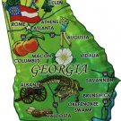 Georgia Acrylic State Map Magnet