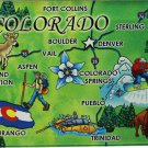 Colorado Acrylic State Map Magnet