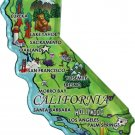 California Acrylic State Map Magnet