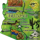 Arizona Acrylic State Map Magnet