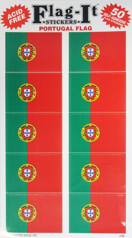 Portugal 50 Count Sticker Pack