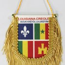 Louisiana Creole Window Hanging Flag (Shield)
