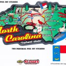 North Carolina State Map Die Cut Sticker