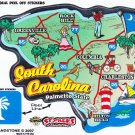 South Carolina State Map Die Cut Sticker