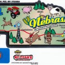Nebraska State Map Die Cut Sticker