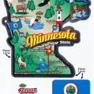 Minnesota State Map Die Cut Sticker