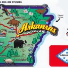 Arkansas State Map Die Cut Sticker