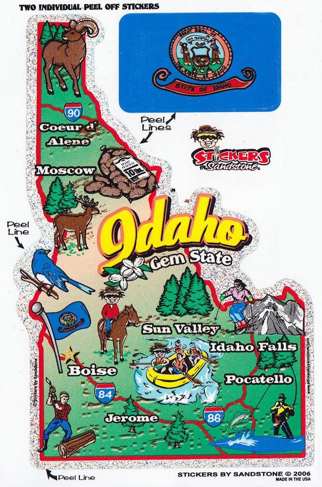 Idaho State Map Die Cut Sticker