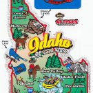 Idaho State Map Die Cut Sticker