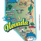 Nevada State Map Die Cut Sticker