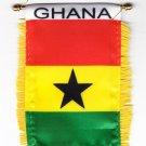 Ghana Window Hanging Flag