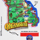 Missouri State Map Die Cut Sticker