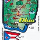 Ohio State Map Die Cut Sticker