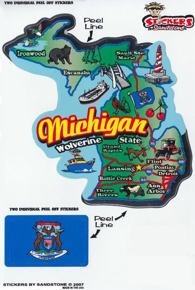 Michigan State Map Die Cut Sticker