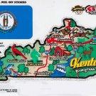 Kentucky State Map Die Cut Sticker