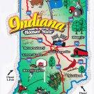 Indiana State Map Die Cut Sticker