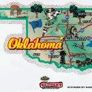 Oklahoma State Map Die Cut Sticker