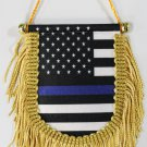 Thin Blue Line (USA) Window Hanging Flag (Shield)