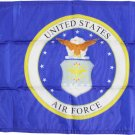 """Air Force (Seal) - 12""""X18"""" Nylon Flag"""