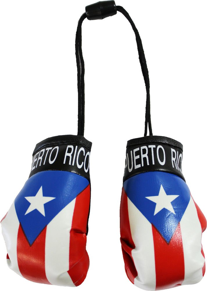 Puerto Rico Mini Boxing Gloves