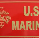 Marines License Plate (Red)