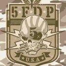 Five Finger Death Punch Textile Poster (Camo Skull)