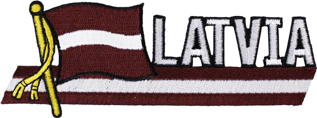 Latvia Cut-Out Patch
