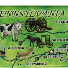 Pennsylvania Acrylic State Map Magnet