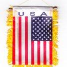 USA Window Hanging Flag