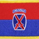10th Mountain Division Rectangular Patch