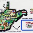 West Virginia State Map Die Cut Sticker