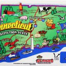 Connecticut State Map Die Cut Sticker