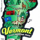 Vermont State Map Die Cut Sticker