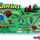 Kansas State Map Die Cut Sticker