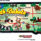 South Dakota State Map Die Cut Sticker