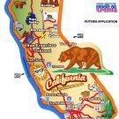 California State Map Die Cut Sticker